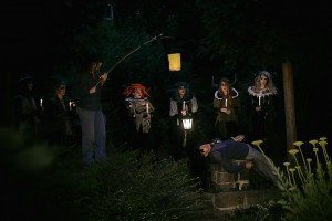 Ein Sommernachtstraum Regie:Frank Schletter Garten Budde Haus leipzig