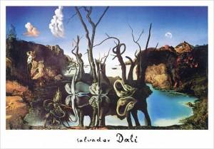 salvador-dal-schwne-spiegeln-elefanten--1937----